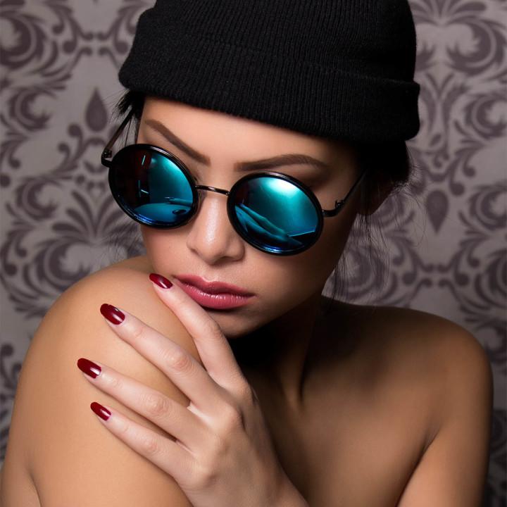 Blue glasses